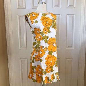 VINTAGE 1960s Sleeveless Tunic Dress - Pop Art